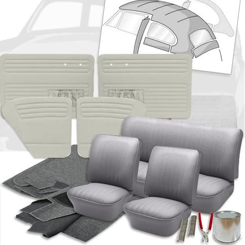 Deluxe Velour Cloth Vw Interior Kit Beetle Sedan 1965