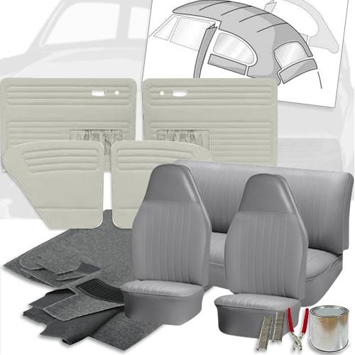Deluxe Velour Cloth Vw Interior Kit Beetle Sedan 1973 Vw Parts