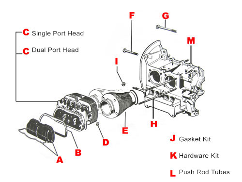 Vw Engine Parts  1300cc