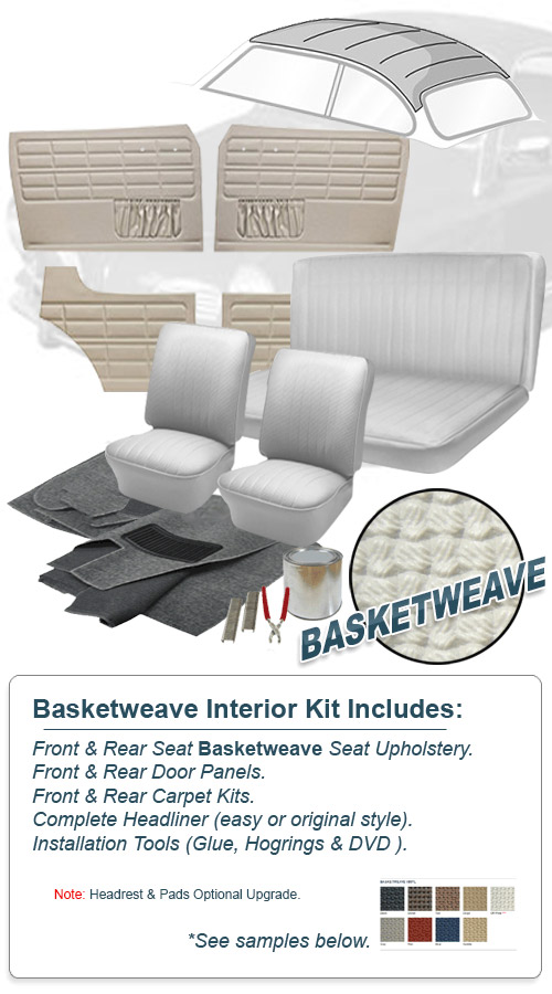 deluxe saddle basket weave vw interior kit karmann ghia coupe 1961 1963 ebay