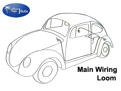 vw main wiring loom  beetle 1965