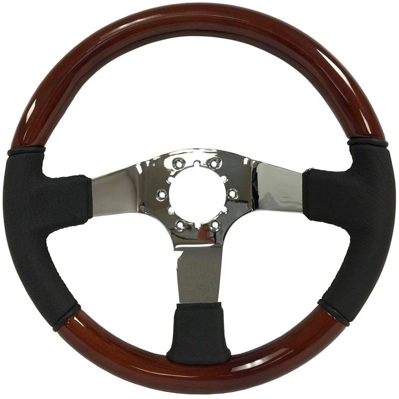 Volante S6 Vw 14 Quot Steering Wheel Mahogany Wood Amp Black