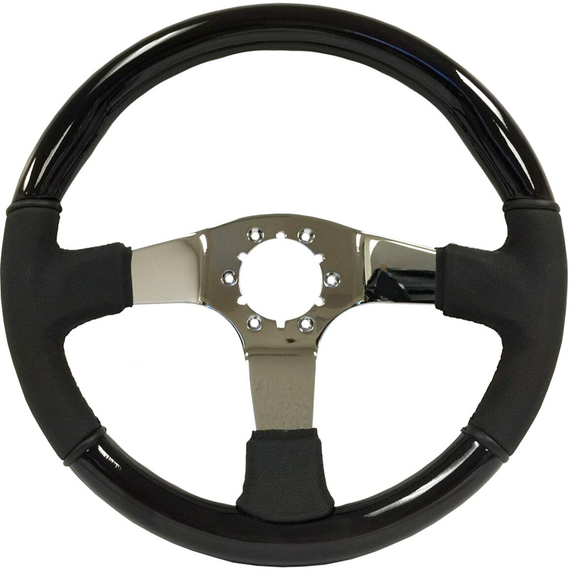 Volante S6 Vw 14 Quot Steering Wheel Black Ash Wood Amp Black