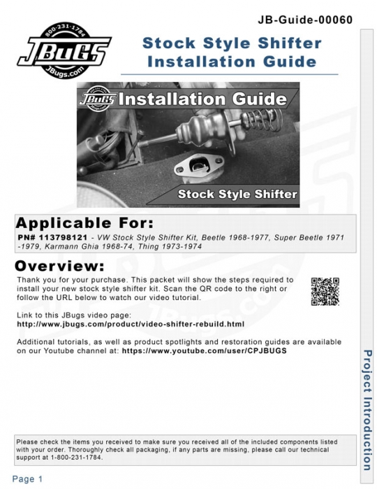 VW Installation Guide: Stock Style Shifter