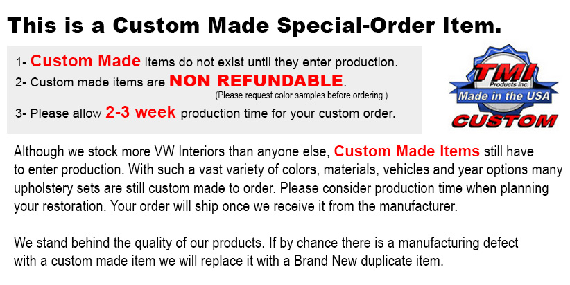 10-1124-Vinyl is a Special Order Item, not made until you order it.