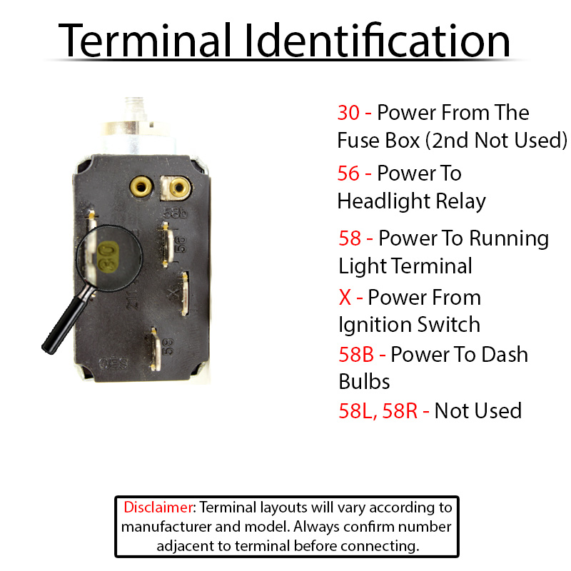 Terminal ID 211941531E wiring for vw headlight switches and relays 1970 vw bug headlight switch wiring diagram at soozxer.org