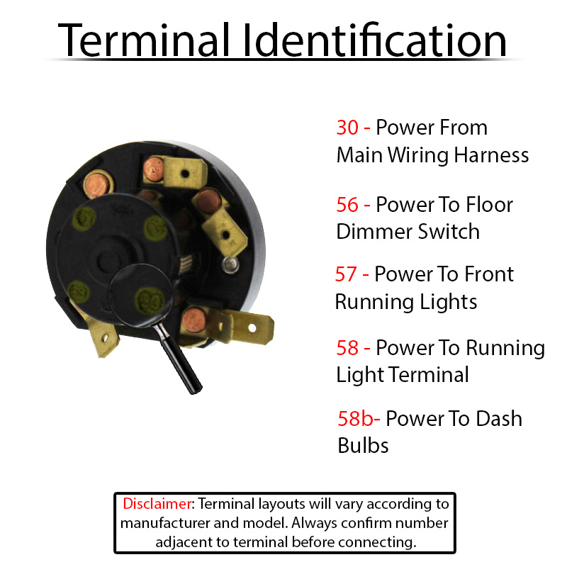 Terminal ID 311941531A wiring for vw headlight switches and relays on floor headlight dimmer switch wiring diagram