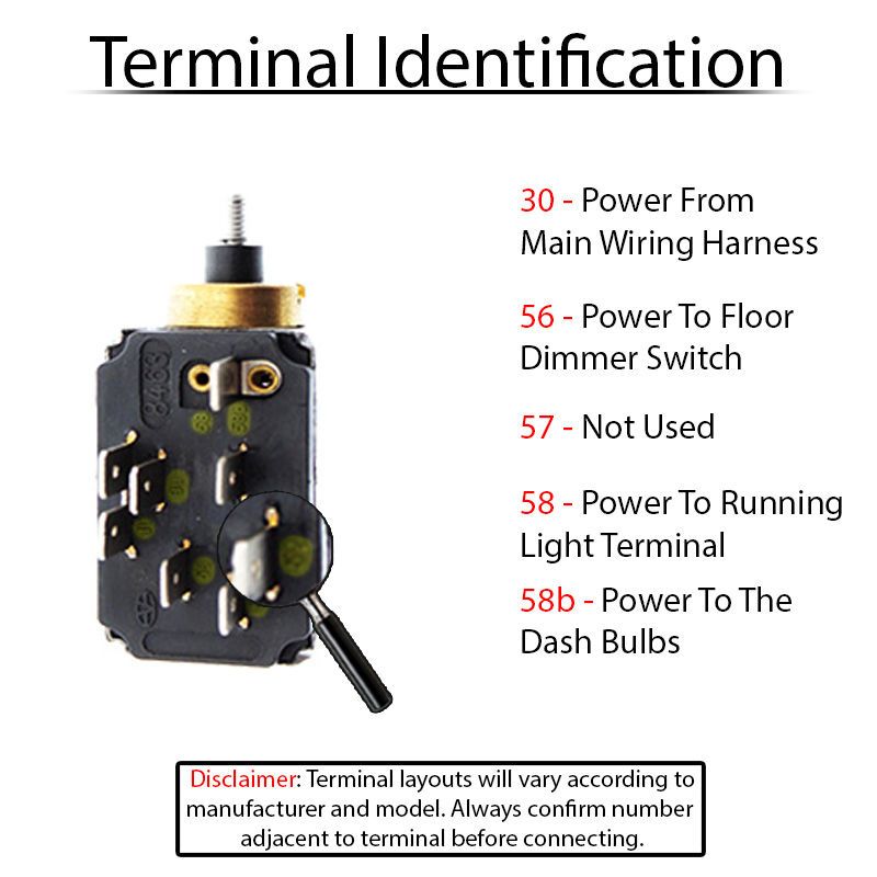Terminal ID 311941531B wiring for vw headlight switches and relays 1970 vw bug headlight switch wiring diagram at eliteediting.co