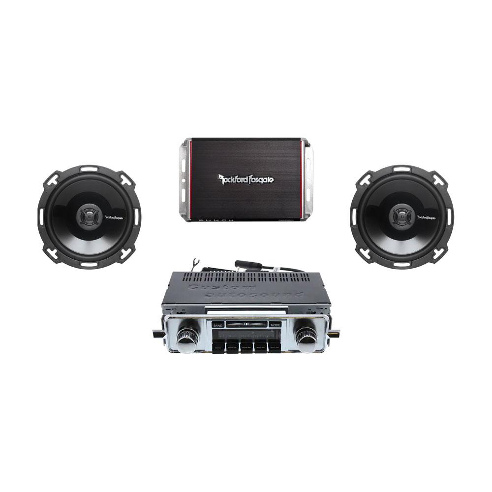 Volkswagen Parts Usa: Custom Autosound Radio USA630-58-67 Kit With 2 Channel Amp