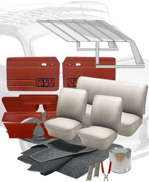Vw Bug Sunroof Headliner: 1969 VW Notchback Interior Kits
