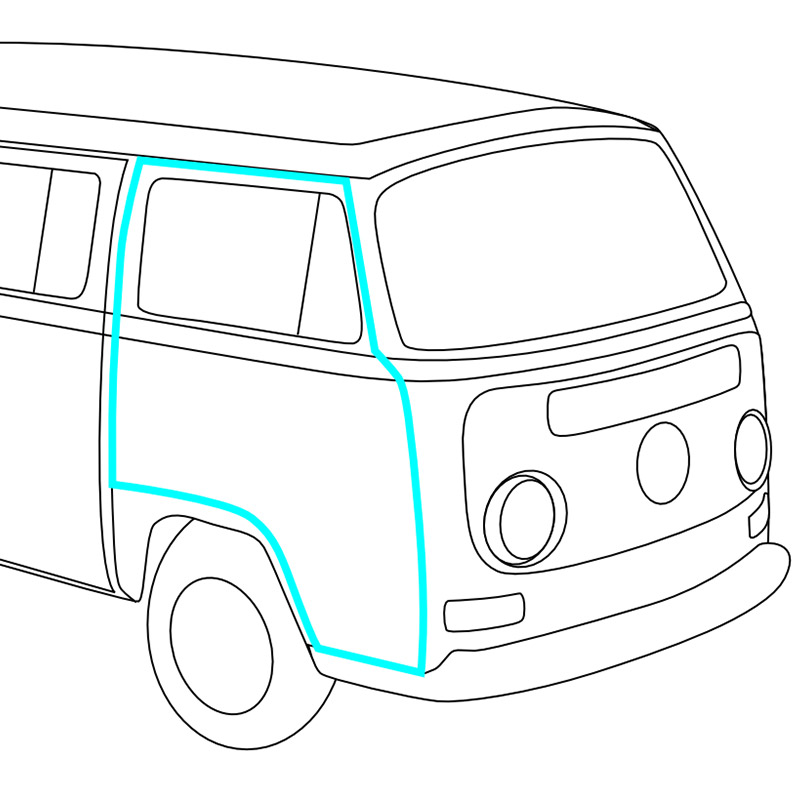 Volkswagen Bus Parts: 1968-1971 VW Bus Rubber Seals