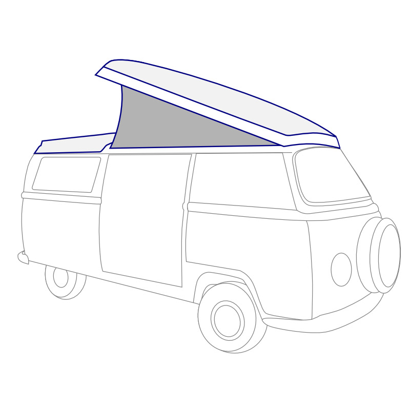 vw camper parts - vw camper canvas tops