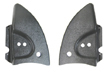 VW Convertible Hinge Covers, Black Plastic, Late Model Beetle and Super Beetle Convertible