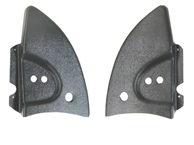 VW Beetle Convertible Hinge Covers, Black Plastic, Pair, Bug/Super 1968-79