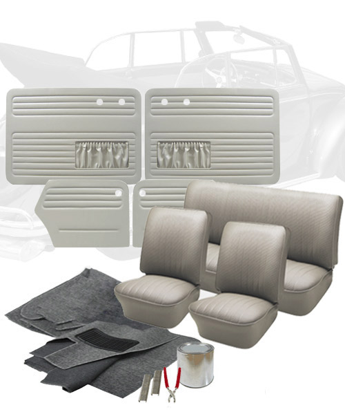 1965 vw bug convertible interior kits jbugs for Deluxe interior design studio kit
