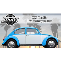 VW Beetle Brake Inspection