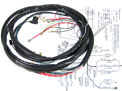 WM 131 1974 vw main wiring loom kit, super beetle sedan & convertible 1973 vw 1975 vw beetle wiring harness at edmiracle.co