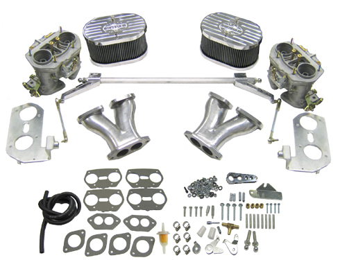 deluxe dual weber 40 idf carb kits w billet aluminum air cleaners 1500 1600cc based up right