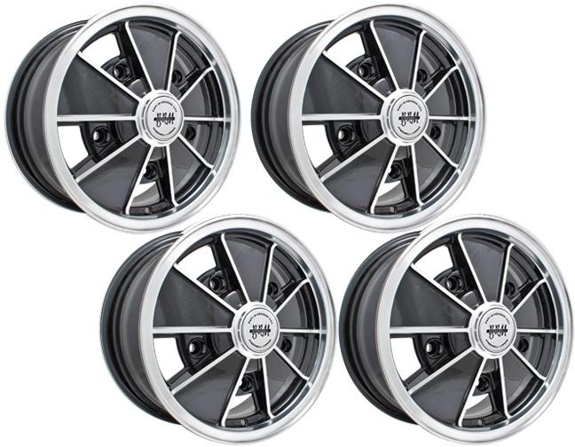 Set of 5 VW Black Lug Caps