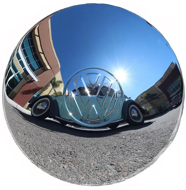 CHROME HUB CAP WITH BIG LOGO   VW BUG BUS GHIA 1946-1965  113601151B