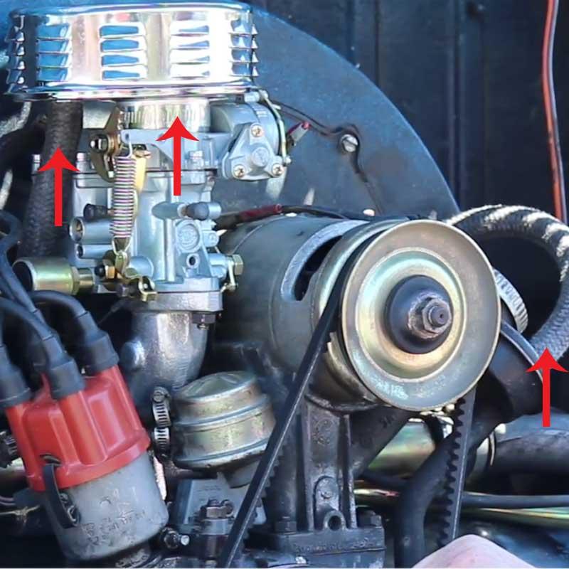 65 vw bug wiring diagram carburetor  amp  intake manifold installation    vw    parts  carburetor  amp  intake manifold installation    vw    parts