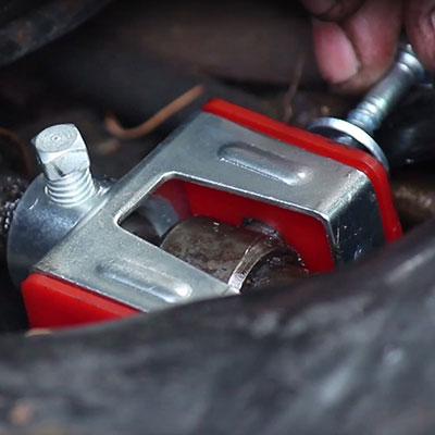 installing shift coupler bushing through bolt