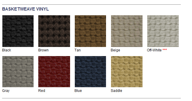 VW Front Seat Upholstery Basketweave VinylSelect Color Beetle - Basket weave vinyl flooring