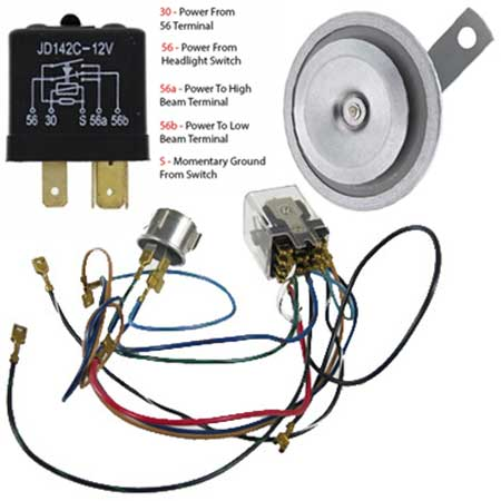 Vw Horn Flasher Relay on 3 Prong Headlight Wiring