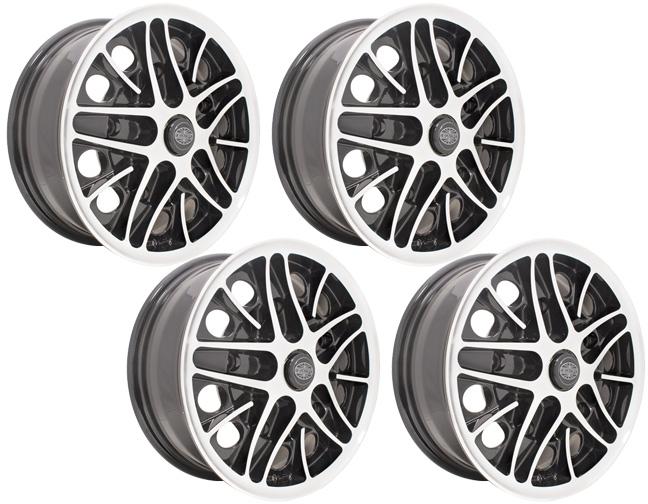 empi cosmo vw wheels 5 x 205 black set of 4 ebay. Black Bedroom Furniture Sets. Home Design Ideas