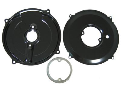 Black Front Cylinder Deflector Tins,Left Side Compatible with Dune Buggy