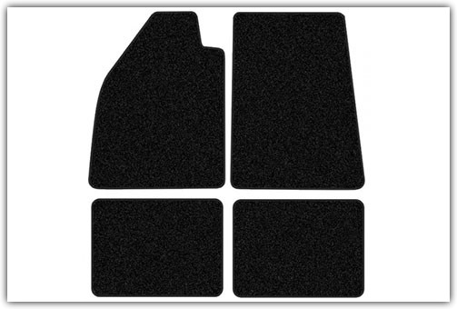 1954-1977 Standard & 1971-1976 Super Beetle with Footrests 4-Piece Carpeted Floor Mats