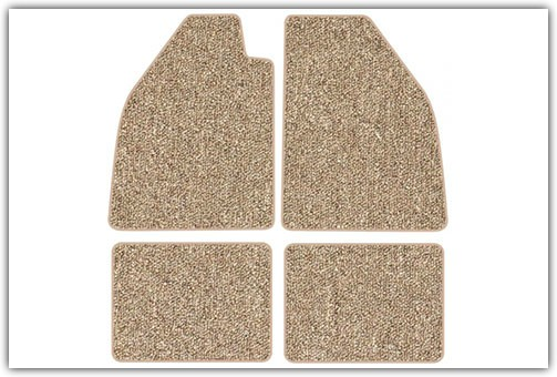 1954-1977 Standard & 1971-1976 Super Beetle without Footrests 4-Piece Carpeted Floor Mats