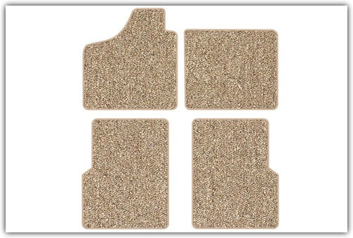 1956-1974 VW Karmann Ghia with Footrests 4-Piece Carpeted Floor Mat Set