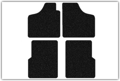 1956-1974 VW Karmann Ghia without Footrests 4-Piece Carpeted Floor Mat Set