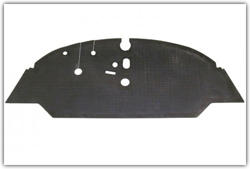1959-1967 VW Bus Front Only Rubber Floor Mats
