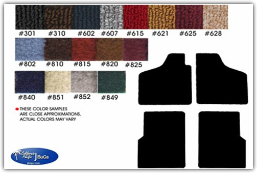 1973-1974 VW Thing Front and Rear Carpeted Floor Mats