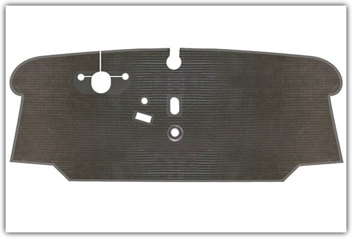 1973-1979 VW Bus Front Only Rubber Floor Mats