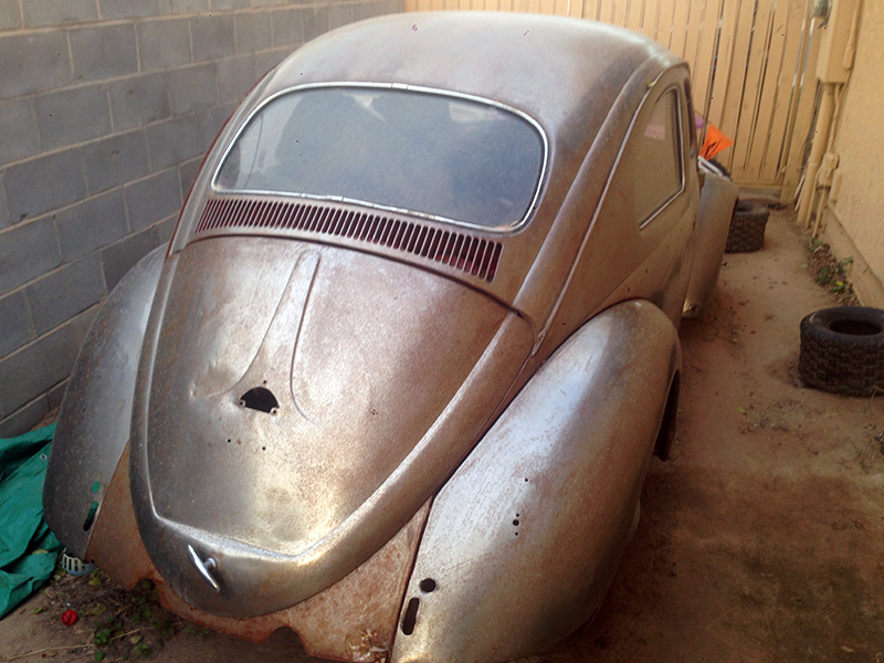 My 1961 VW Beetle before I started the restoration process.