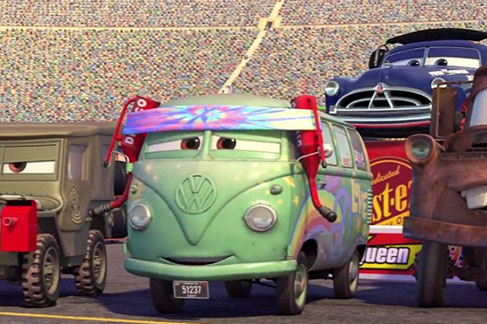 VW Bus featured in Disney's Cars, voiced by George Carlin