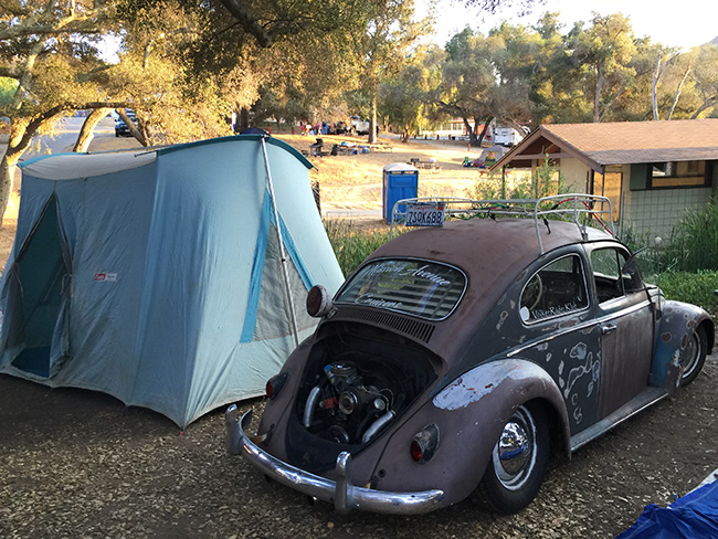 1964 VW Beetle with Vintage Coleman Tent