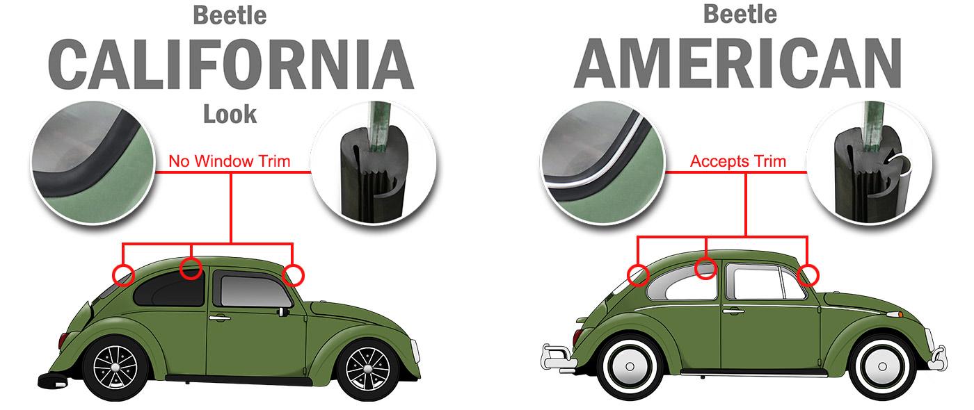 Gen VW Rabbit Conv Cabriolet Inner Window Scraper Seal