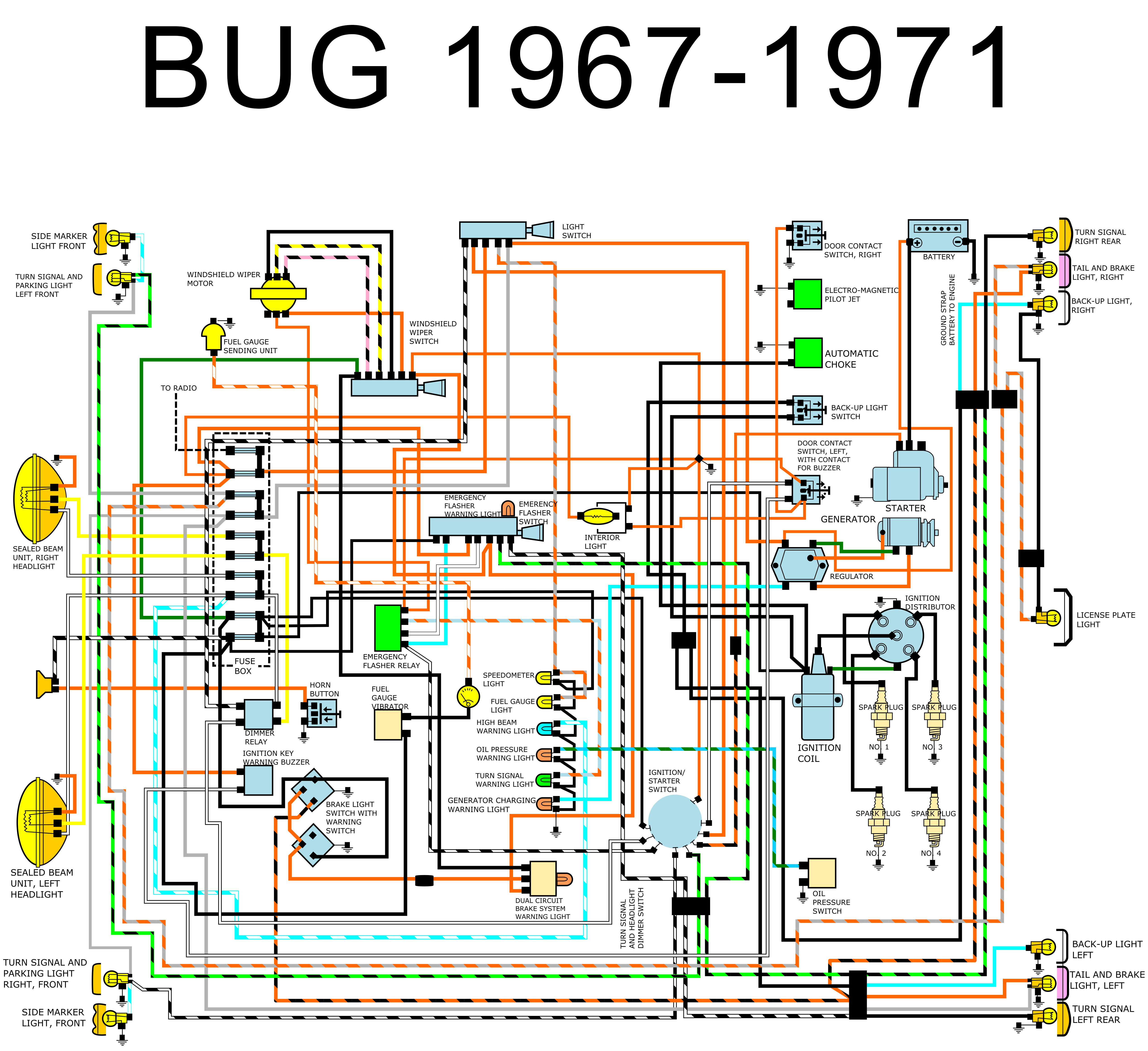 35 1967 Vw Bug Wiring Diagram