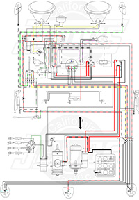 1962-65 vw beetle wiring diagram